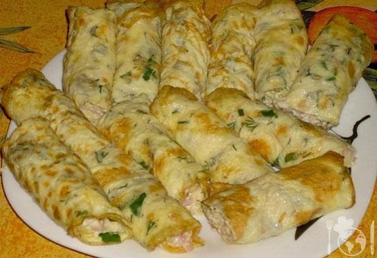Острая начинка из сливочного сыра для блинов