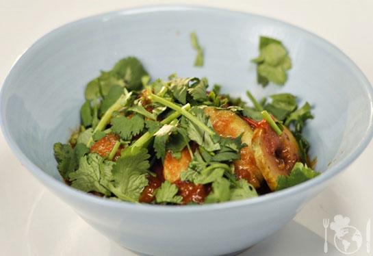 Пряное овощное рагу с кабачками